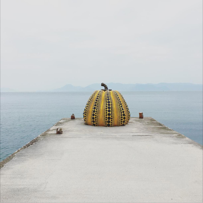 © Yayoi Kusama - Pumpkin, 1994, Benesse Art Site, Naoshima, Japan