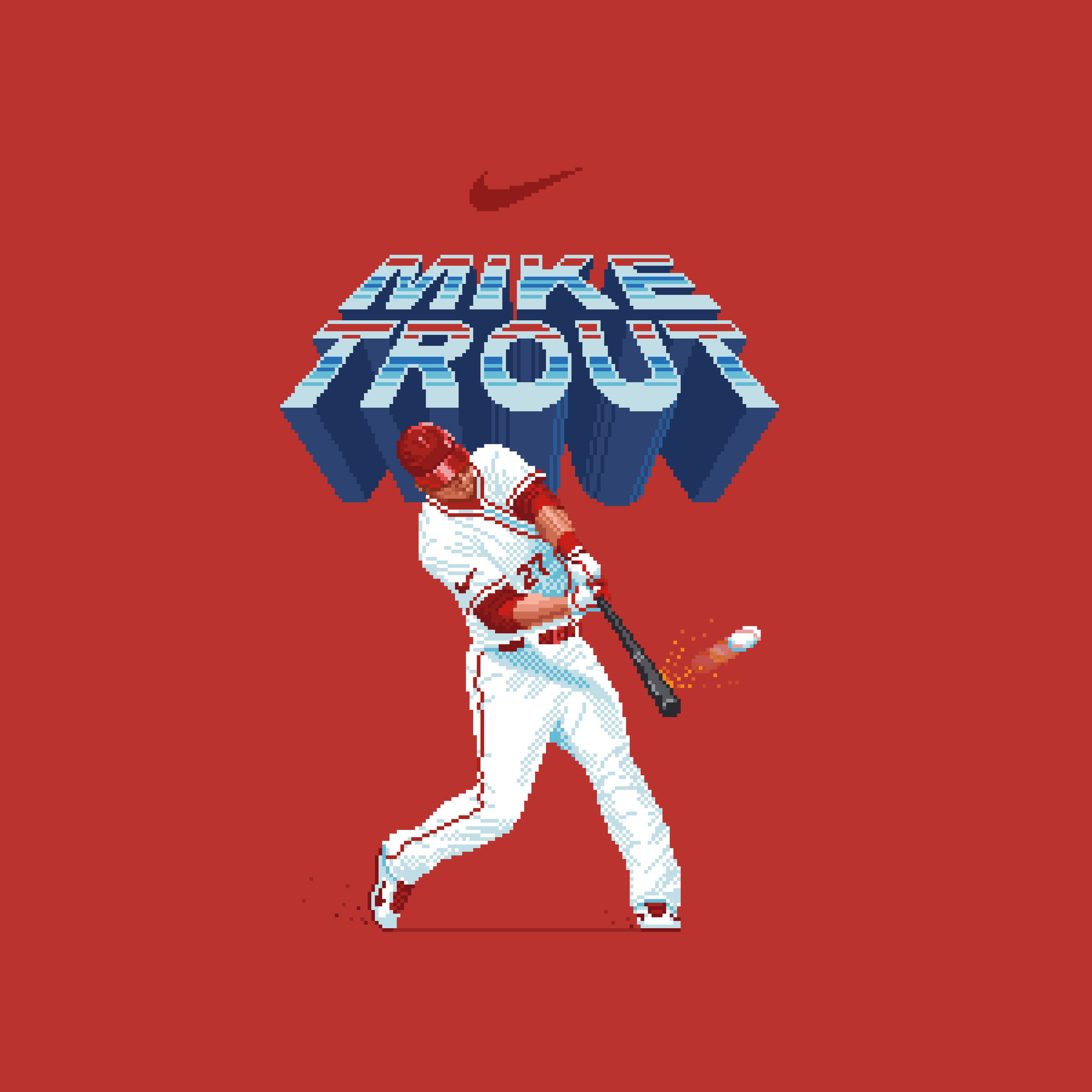 Mike Trout t-shirt design for Nike (2018)