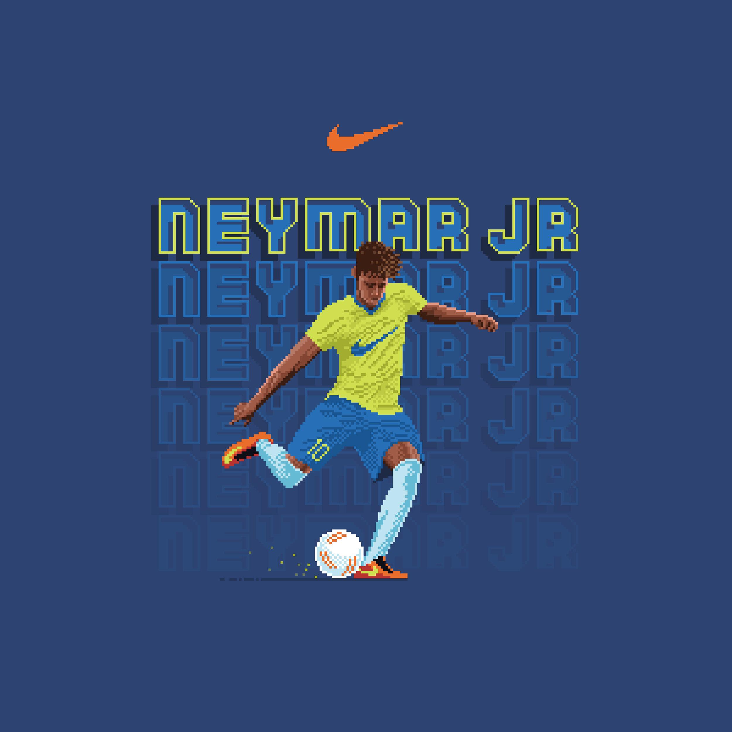 Neymar Jr. t-shirt design for Nike (2018)