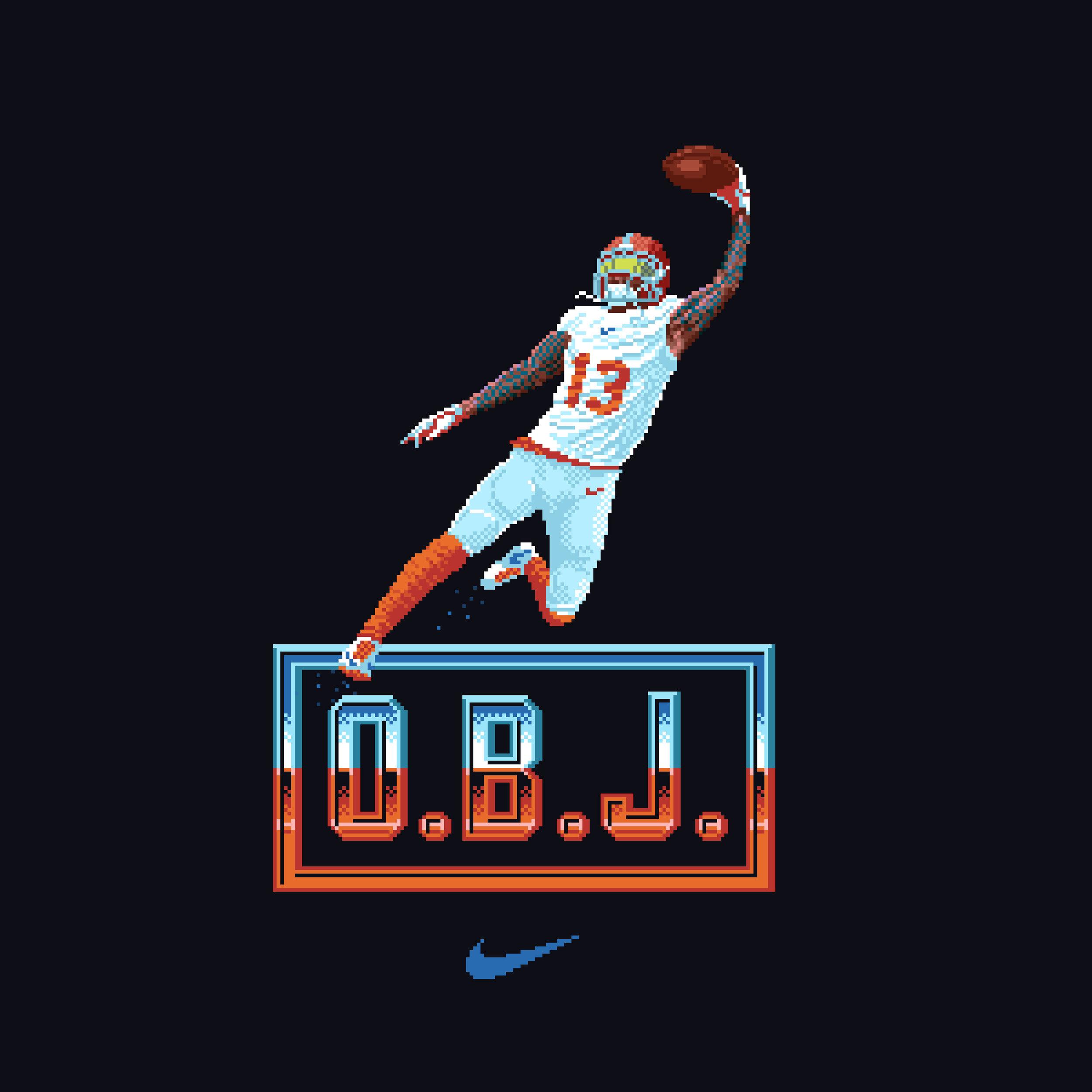 Odell Beckham Jr. t-shirt design for Nike (2018)