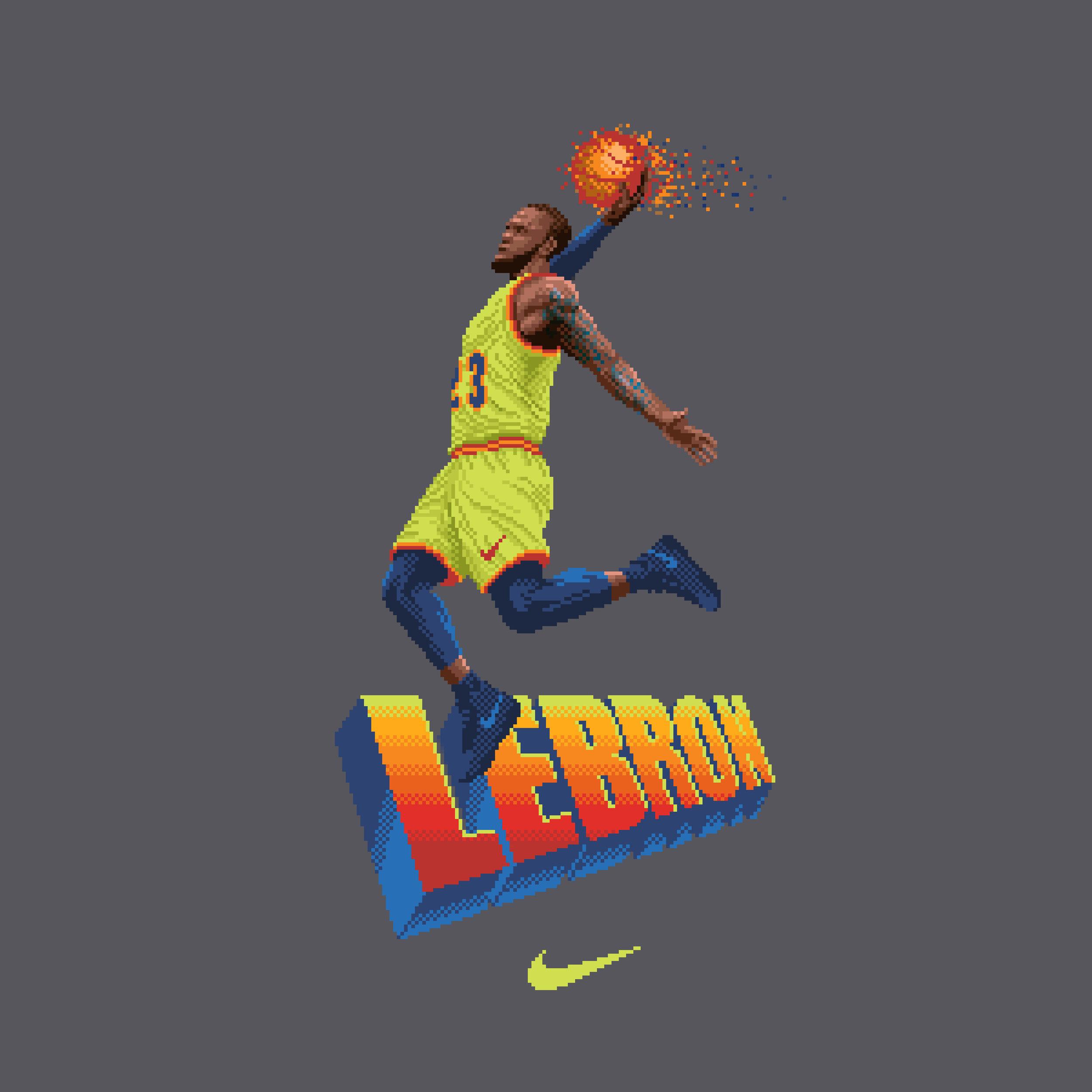 Lebron t-shirt design for Nike (2018)