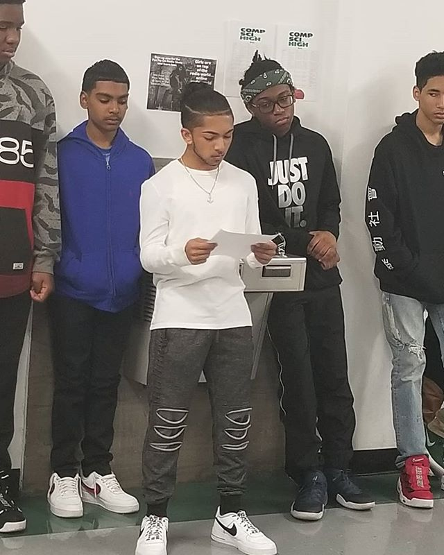 Today we had six wonderful CSH students  read their poems about injustice and inequality before setting out to watch #TheHateUGive as a school community.