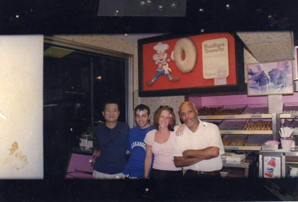 Current owner, Jimmy Barouxis (blue shirt) with friends in the 90's.