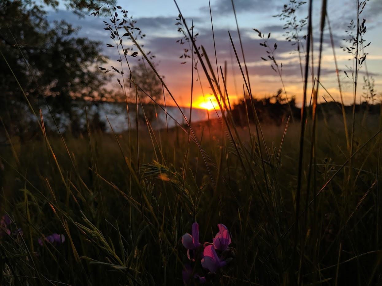 Sunset over the beautiful Calamus Reservoir at Kamp Kaleo
