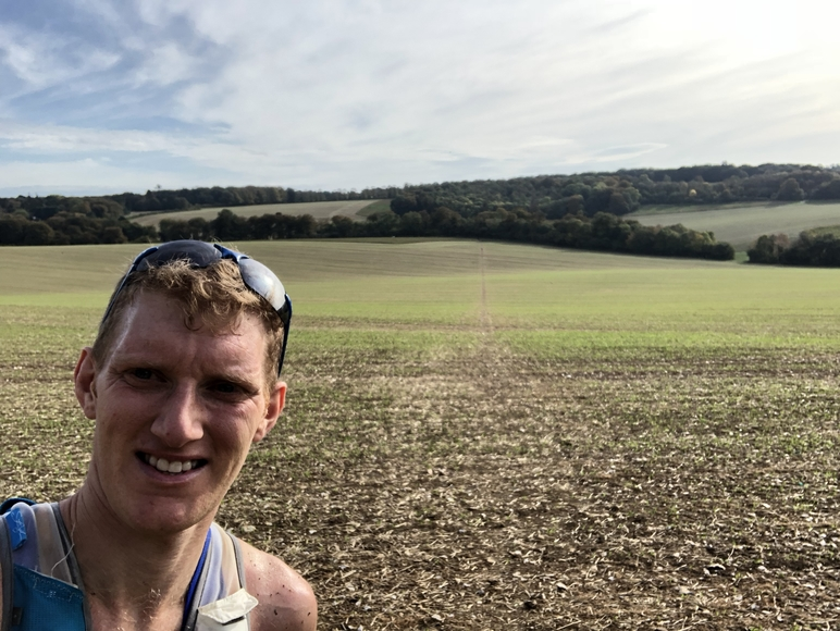 Cheeky Selfie in A Field Druing the Autumn 100 Mile Race (for JamesRunsFar.com).jpg