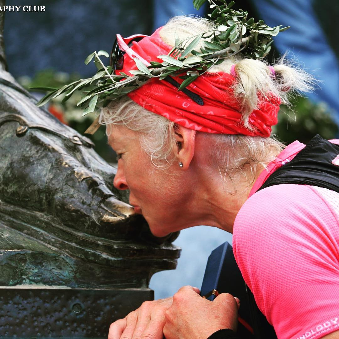 One of Mimi Anderson's proudest achievements was completing the Spartathlon. A 153 mile non-stop race in Greece