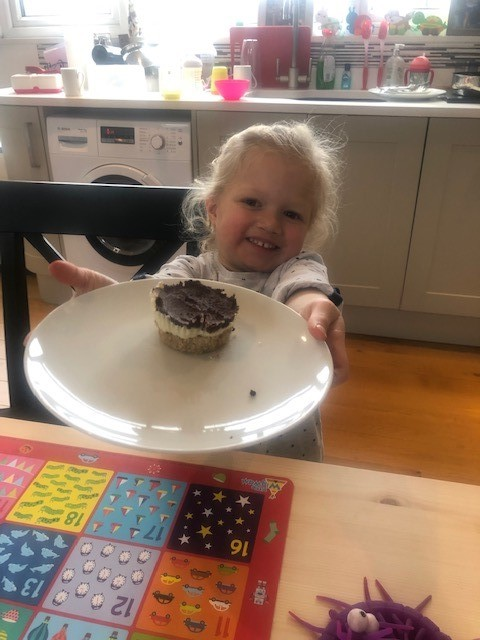 Rosie, my daughter baked me delicious low carb cheesecakes