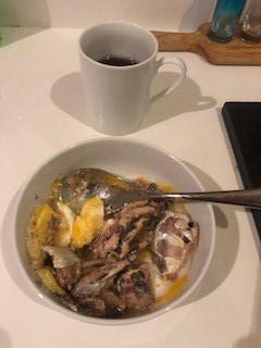 Smelly Sardines, Eggs and Coffee