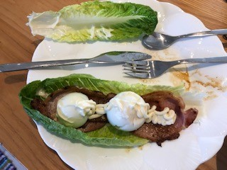 Egg and Bacon Lettuce Wrap