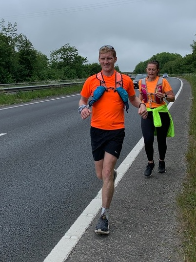 I was amazed at how supportive the entire community was in my attempt. Many runners joined me throughout the challenge. And here was the first person who joined me on day 1, running on the busy A30 in Cornwall. Thank you to everyone