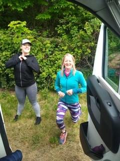 Kerry and Becky Keeping Limber Outside the Motor Home (for JamesRunsFar.com).jpg