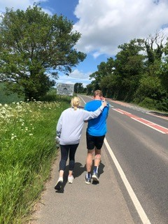Catherine (my wife) joined me for more than 10k during my LEJOG attempt. It was amazing sharing the journey with her. Although she has since suffered from a broken toe nail.
