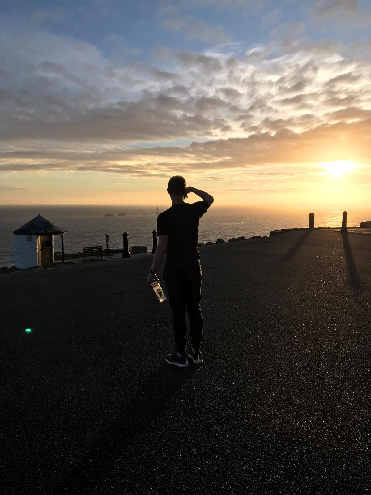 Me looking over the beautiful sunset at Land's End, the day before my attempt started. At this point, I was confident and calm. And even though I knew how tough this was going to be, it was tougher than anything I have imagined