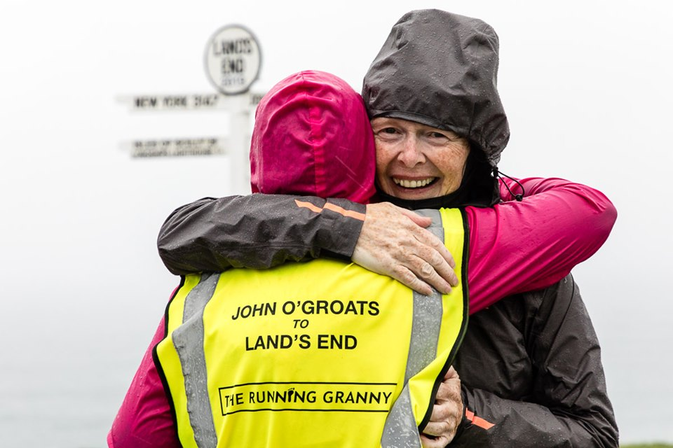 Angela, AKA' The Running Granny' had a huge amount of support during her challenge. Which just goes to show how inspirational the run was. Photo: Eddie Winthorpe, LRPS