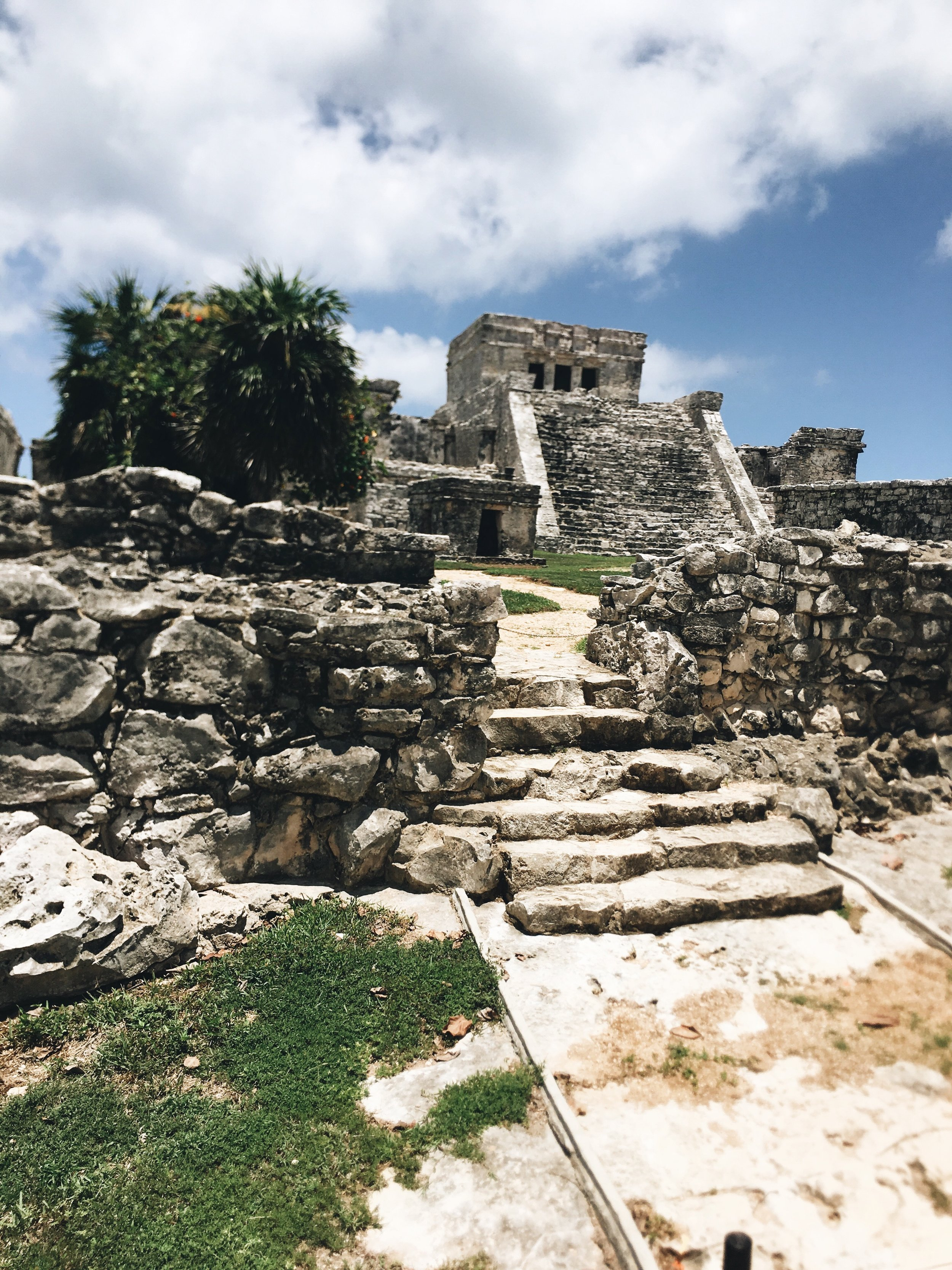 Tackling the Mayan Ruin hike after our bike ride was totally worth it.
