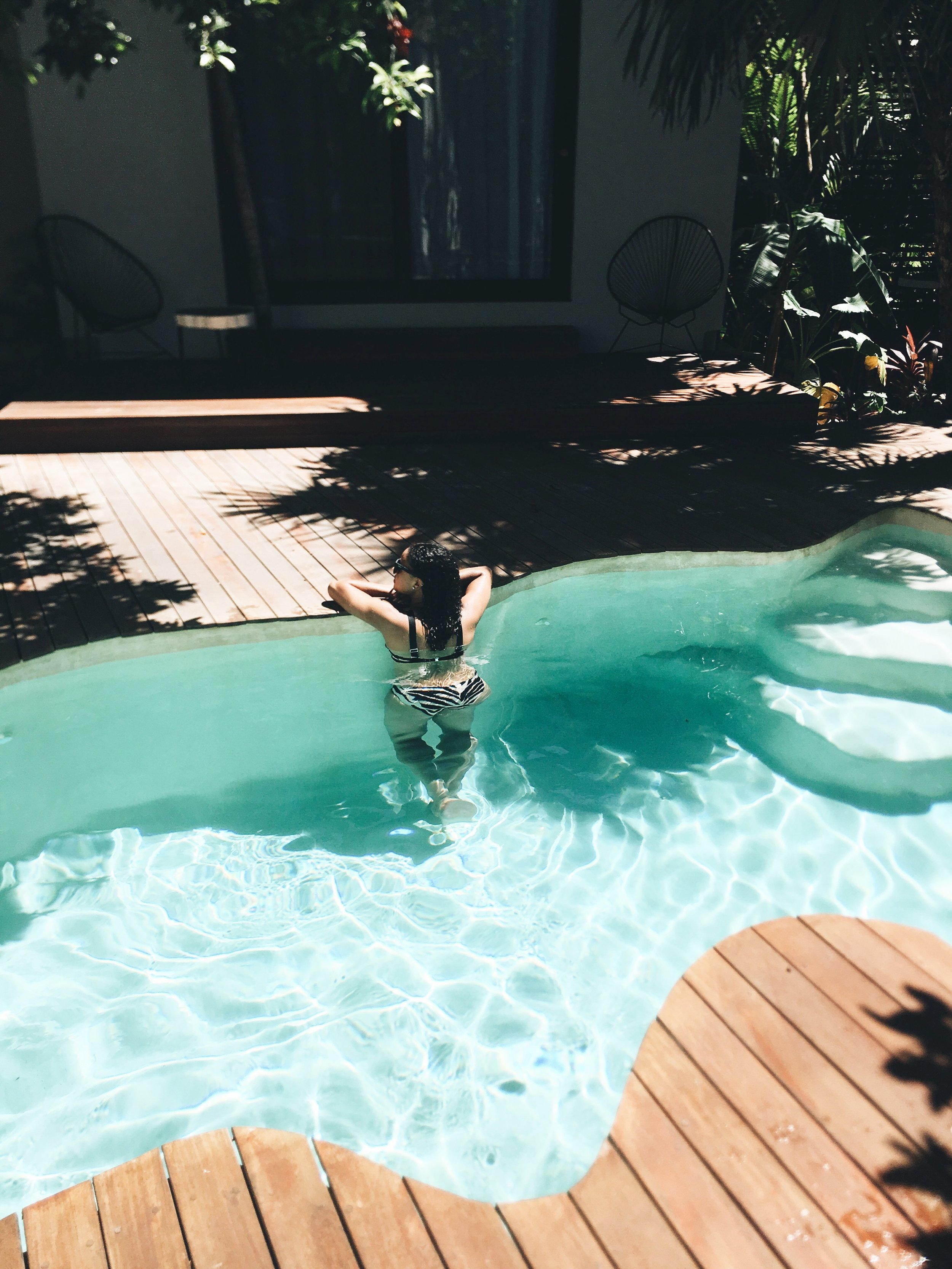 Loved cooling off in our private pool at the    Sanara     .