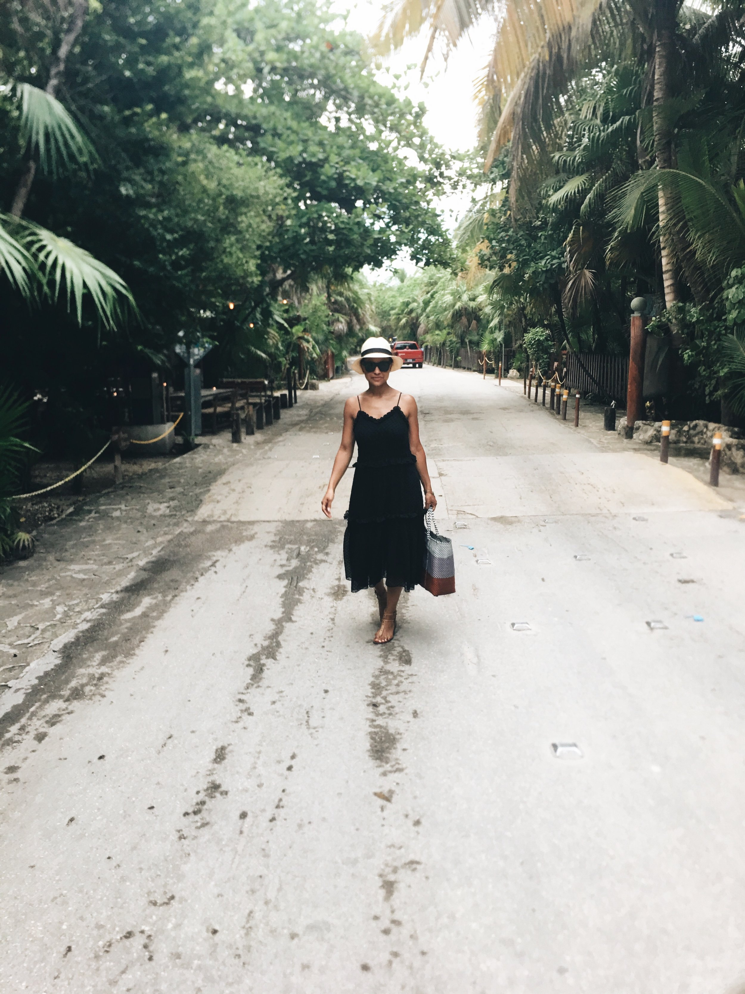 Even the streets of Tulum are picturesque.