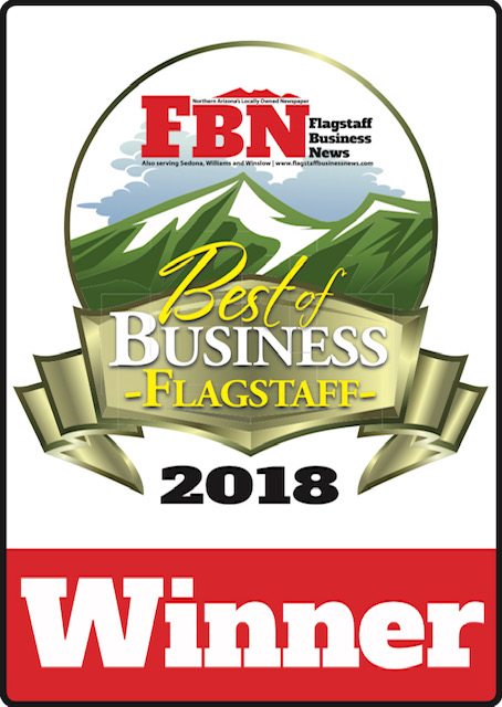Proudly the Best of Flagstaff Winners for 5 years running! -