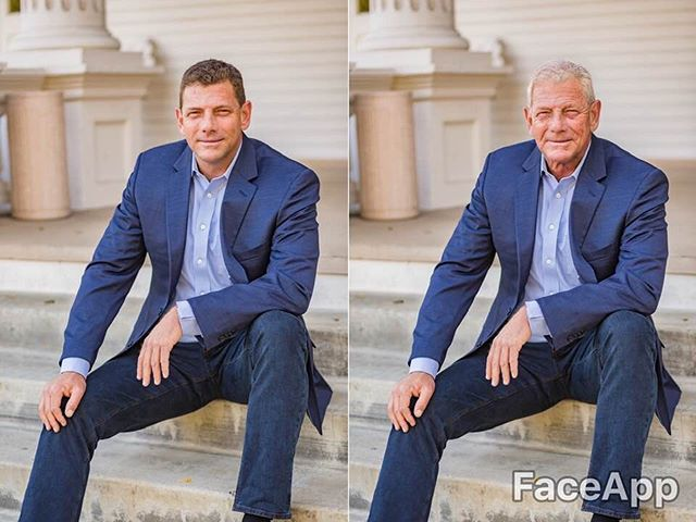 Had to try it !  Me in 40 years !  Not Bad !!! I'll take it !!! 😅  #faceapp #faceappchallenge