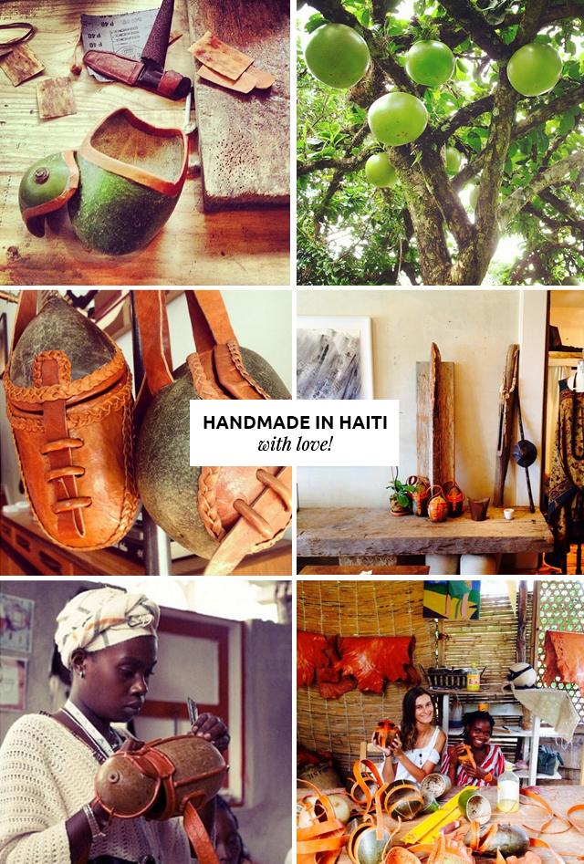 Bolsas Hermosas Hechas en Haiti // Jacmel & Co. son bolsas hechas en Haití por los artesanos locales con calabaza. Creado por Lucie Cincitanis, un empresario social.