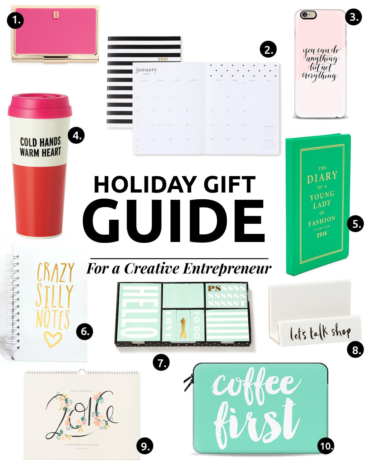Mi Guía De Regalos Del 2015 Perfecta Para Creativos // ¡Consigue el regalo perfecto! La guía de regalos completa para un emprendedor creativo, una anfitriona elegante y lo que TODA CHICA necesita.