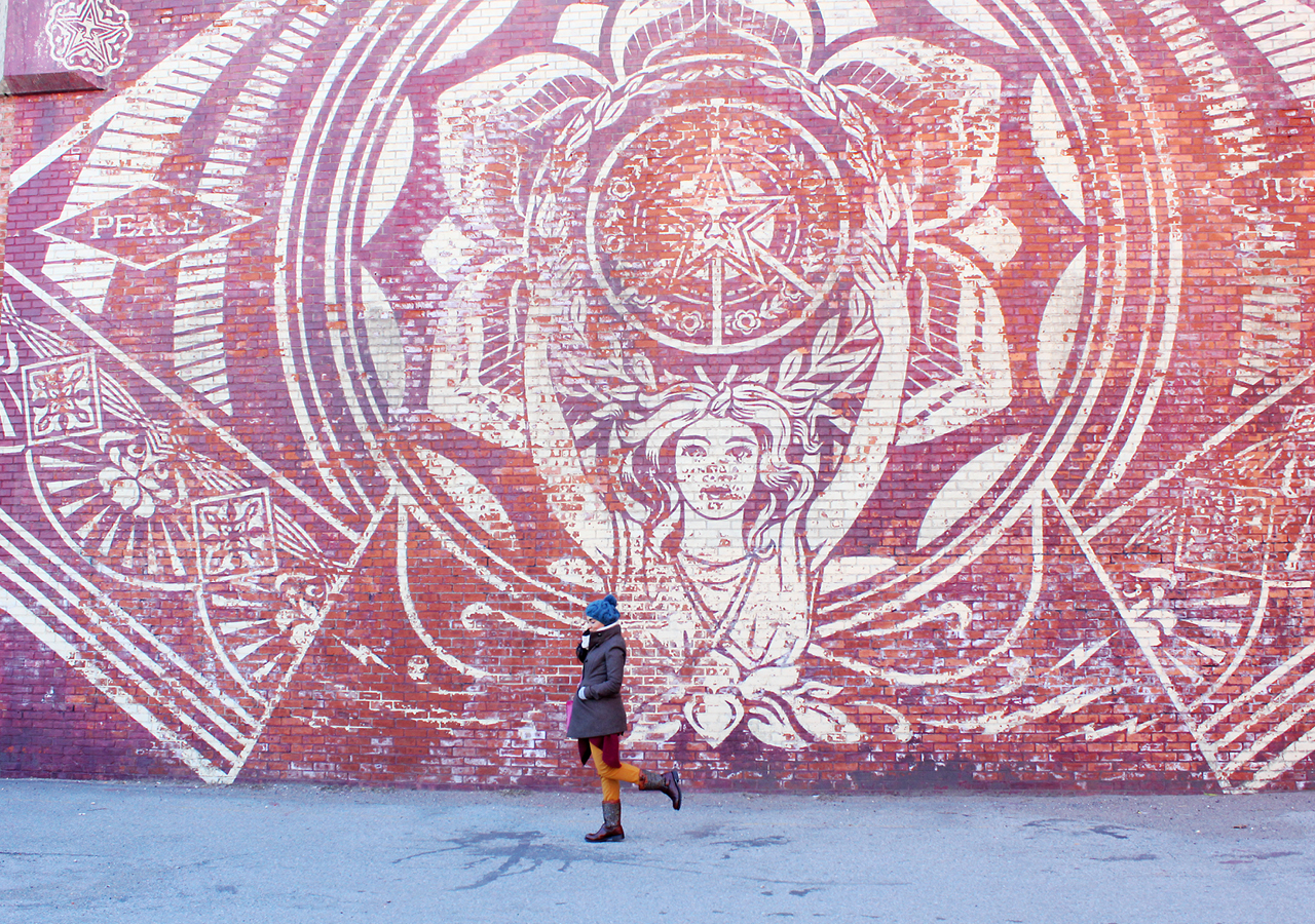 Mural by Shepard Fairey | 112 York St, Brooklyn, NY
