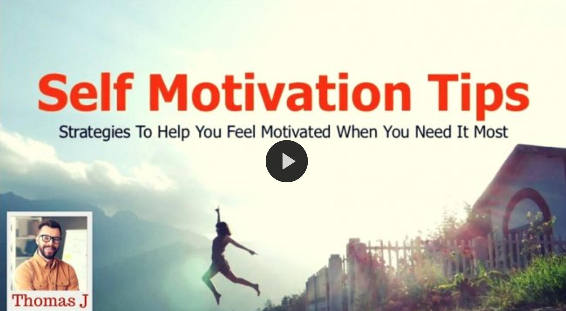 Self Motivation Tips - Online Course / Siempre decimos que el próximo año va a ser 'nuestro año', ahora es tiempo de cumplir esta promesa! Aquí estan 5 cursos en línea para ser éxitoso este año.