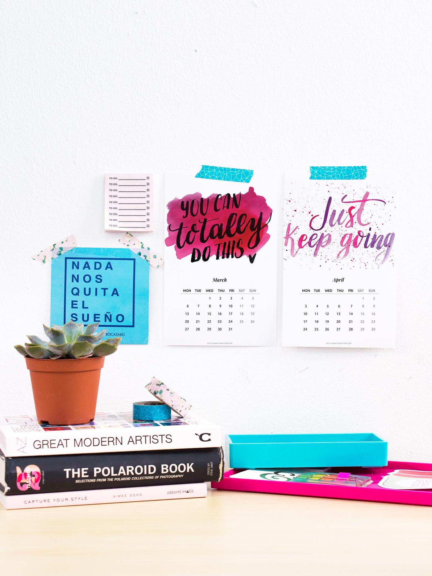 Calendario 2017 Con Frases De Inspiración Gratis The Key Item
