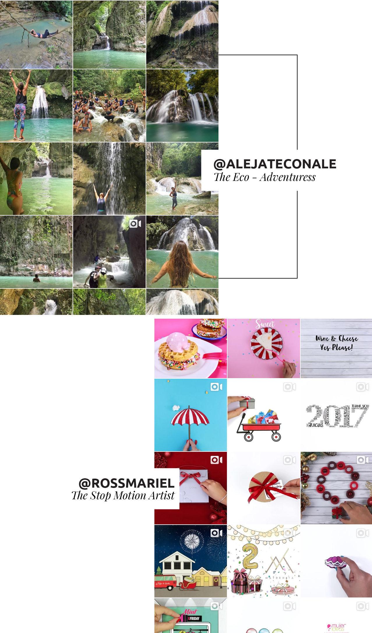 Nueva lista de cuentas en instagram que debes seguir. Todos son dominicanas, super talentosas y te prometo que te mantendrán inspirado.