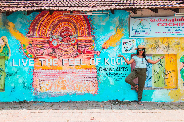 ¿Interesado en viajar a la India? Aquí la guía completa que necesitas saber: vuelos, vestimienta, lugares turísticos, costo, transporte y mucho más.viaje-india-travel-guia-32-cochin-kochi-mular-streetart