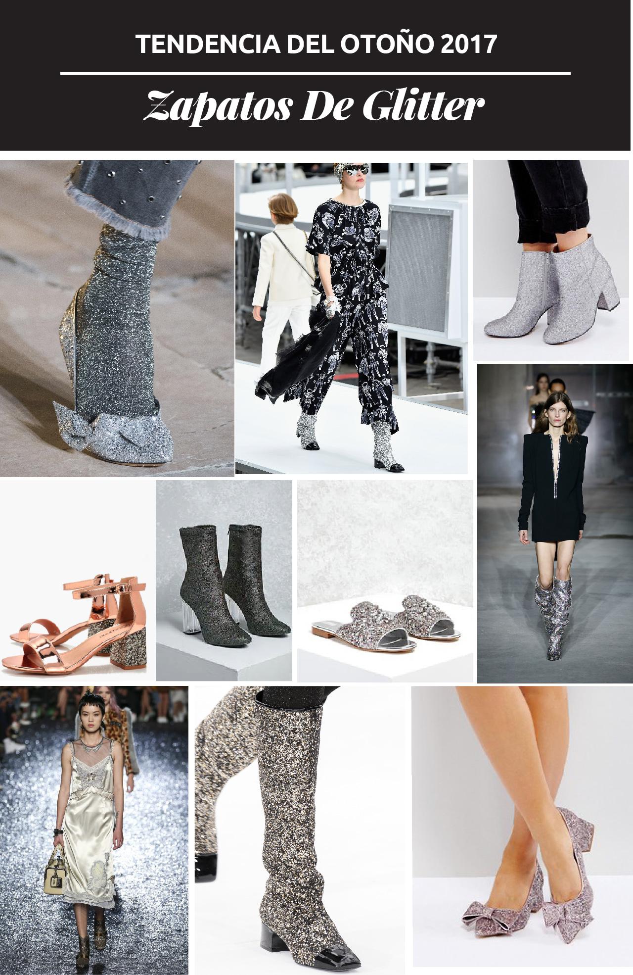 En NYFW marcas presentaron zapatos con glitter en sus ultimas colecciones. Aquí te damos una guía de 15 zapatos con glitter que puedes usar esta temporada.