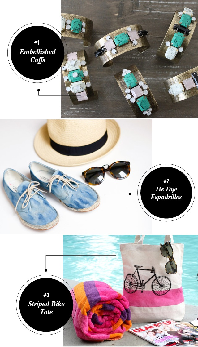 DIY // Three Summer Accessories Projects I wanted to share some summer accessories that I found on the web. They're super cool and easy to do. I promise you'll be able to recreate these in minutes!