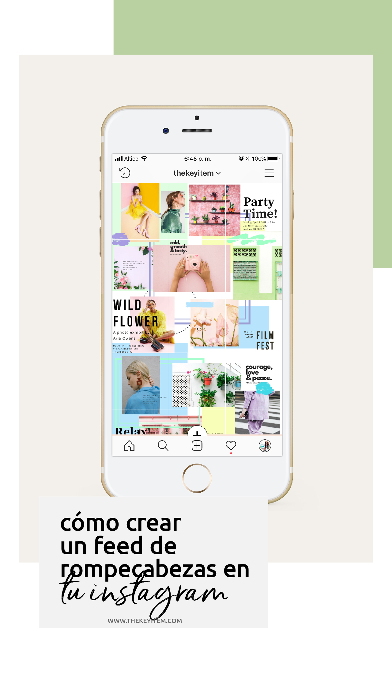 Cómo Crear Un Feed De Rompecabezas En Instagram The Key Item