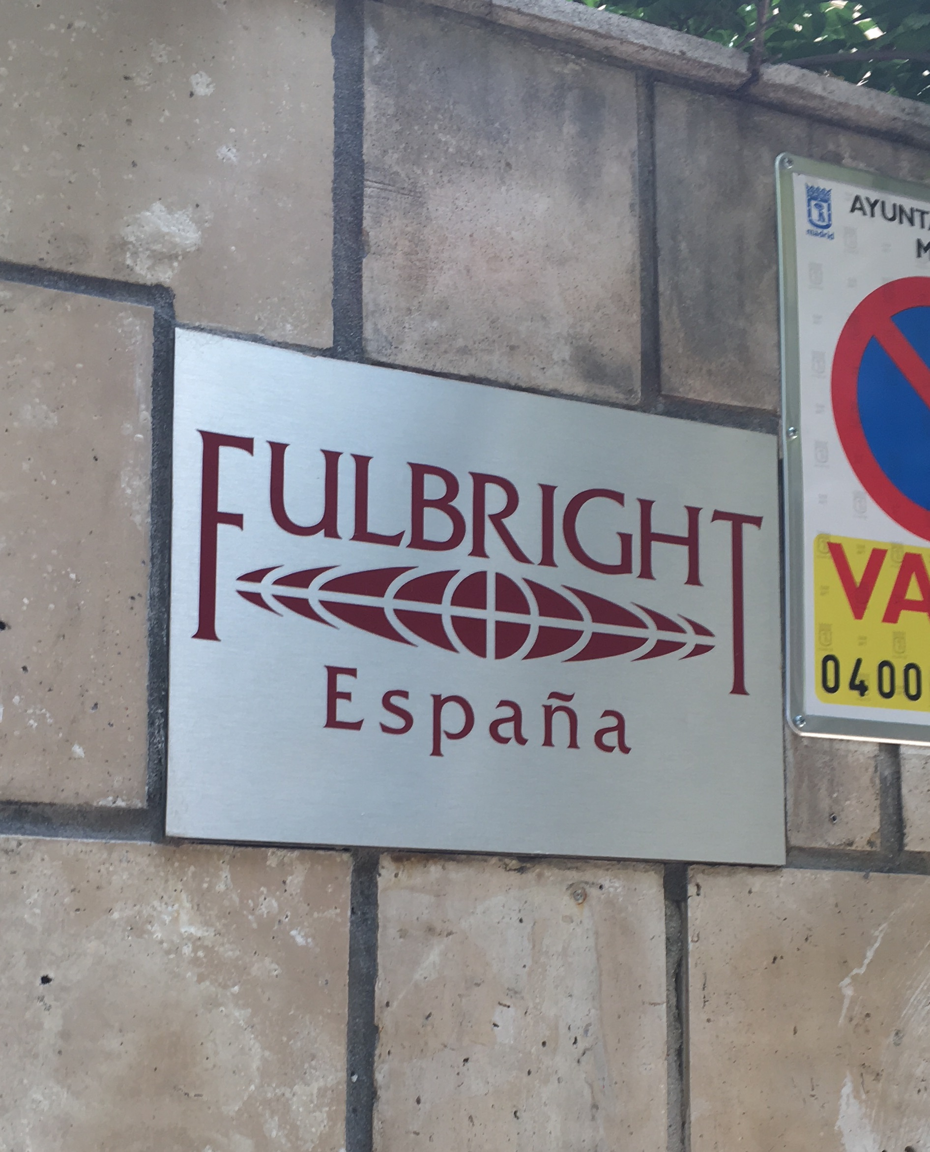 Entrance of the Spanish Fulbright Commission