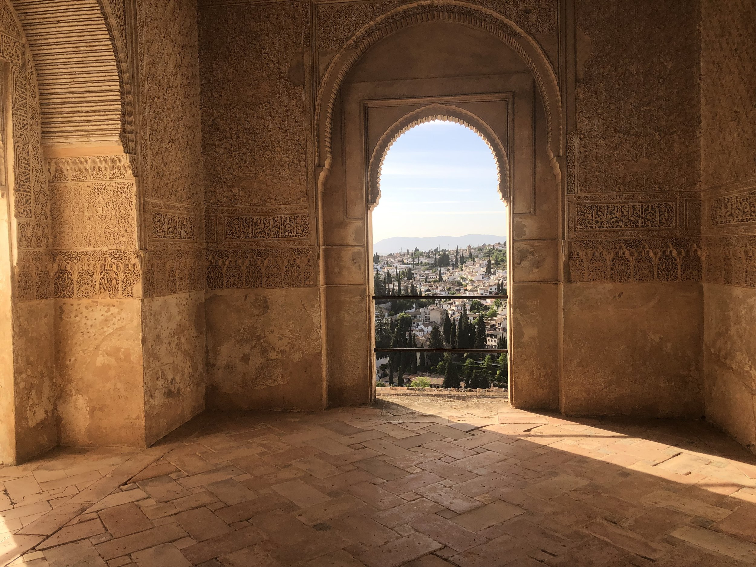 The view from within the Alhambra in Granada.