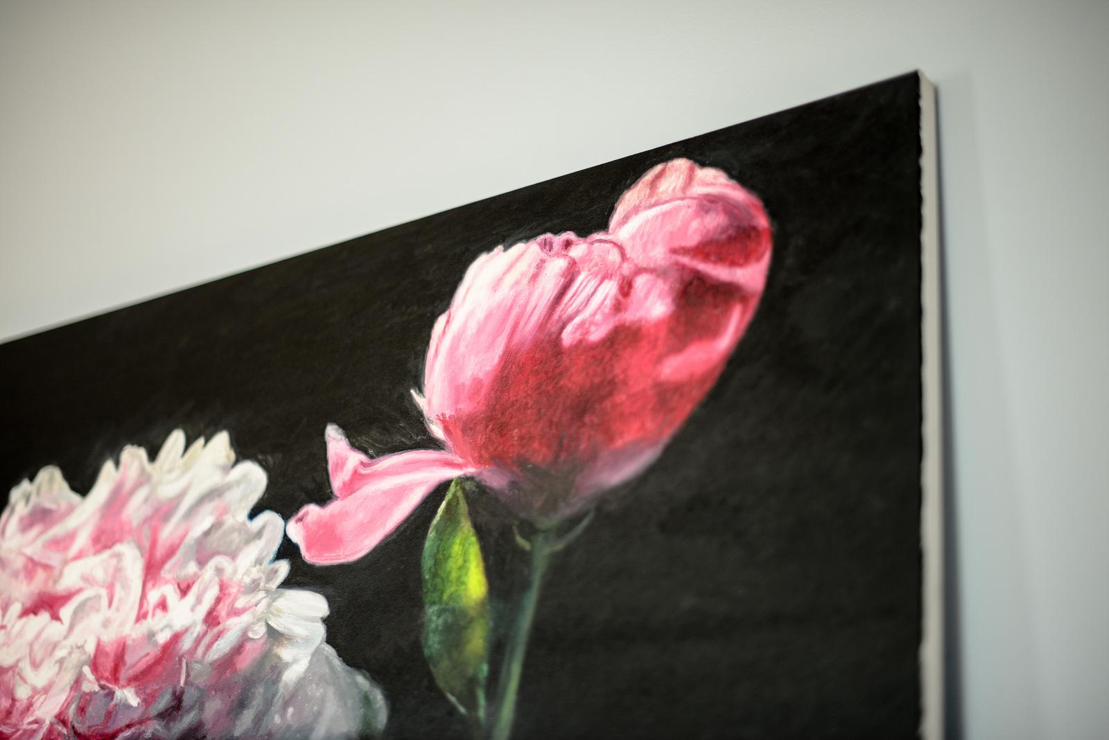 detail of peony Robert Lemay