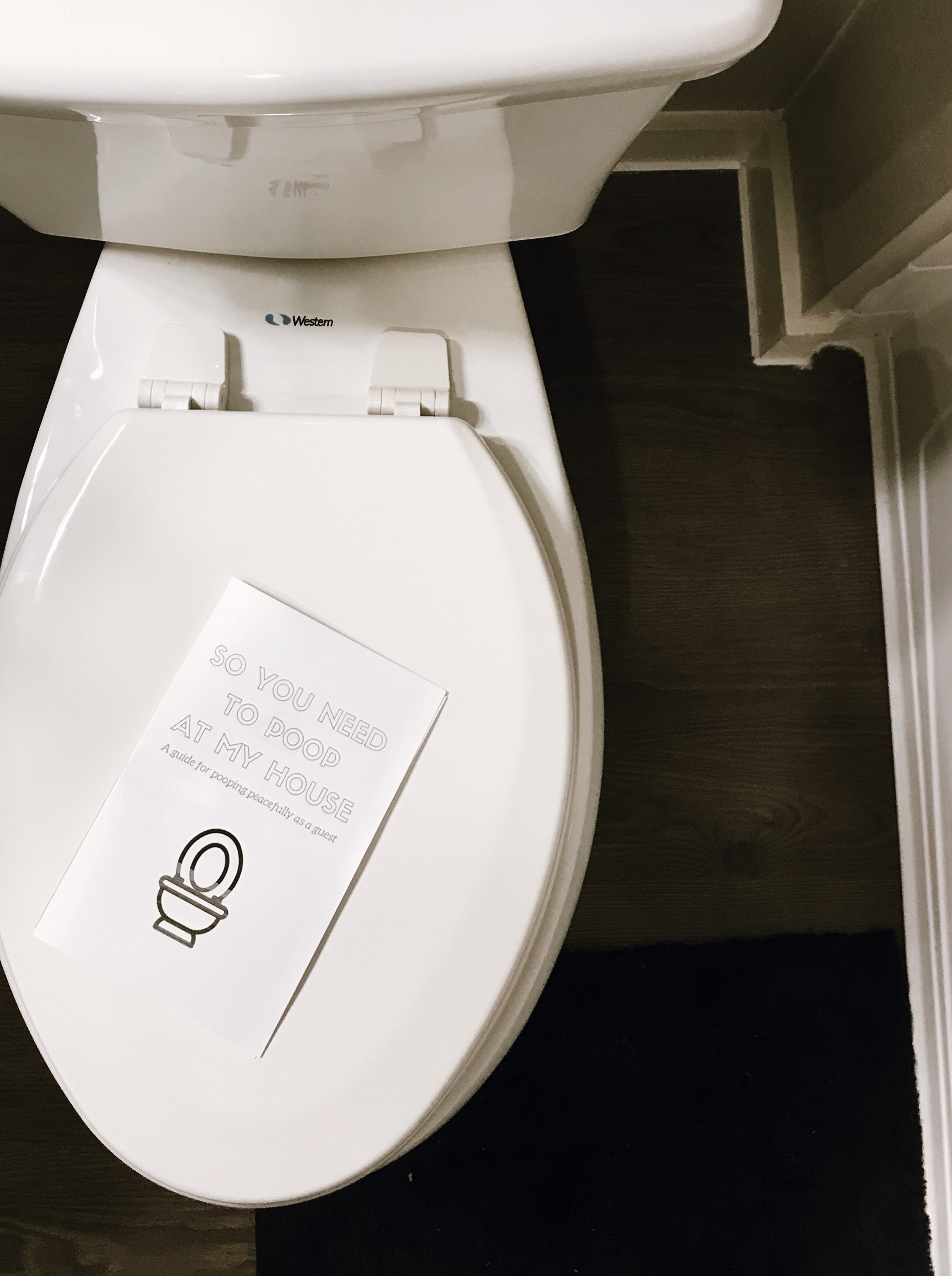 A GUIDE TO POOPING PEACEFULLY AS A GUEST (AND A FREE PRINTABLE BOOK FOR HOSTS) - This Wild Home