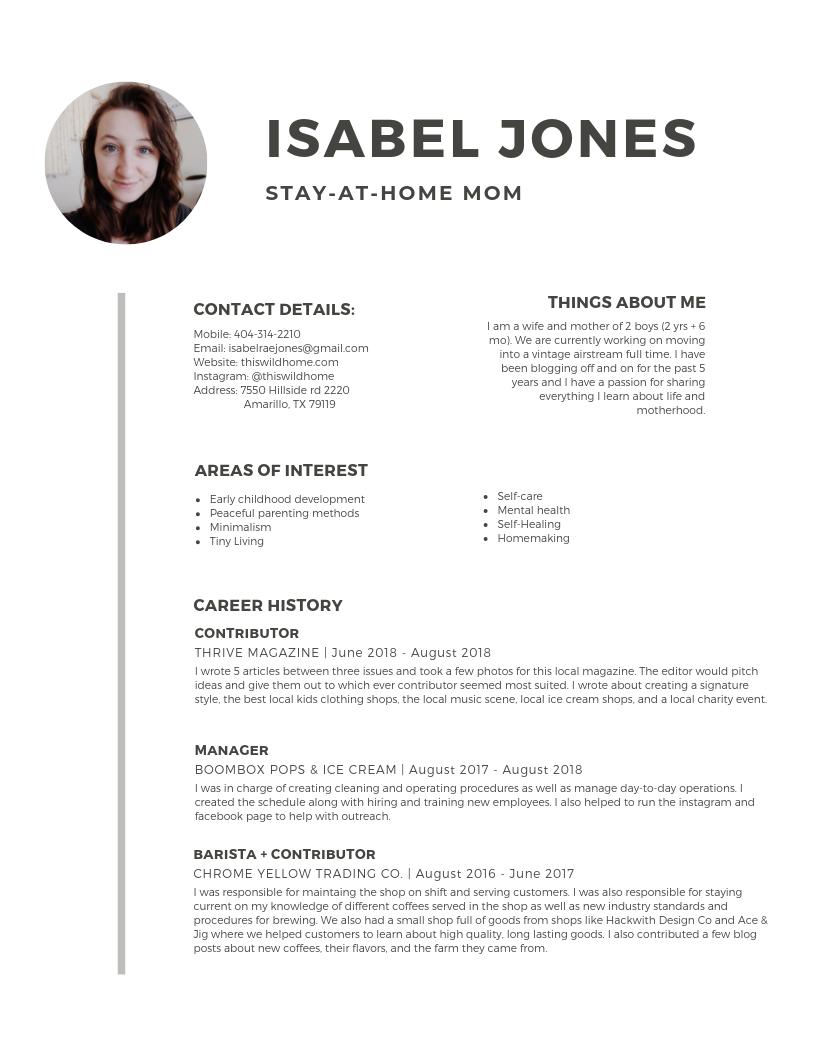 Isabel Jones Resume