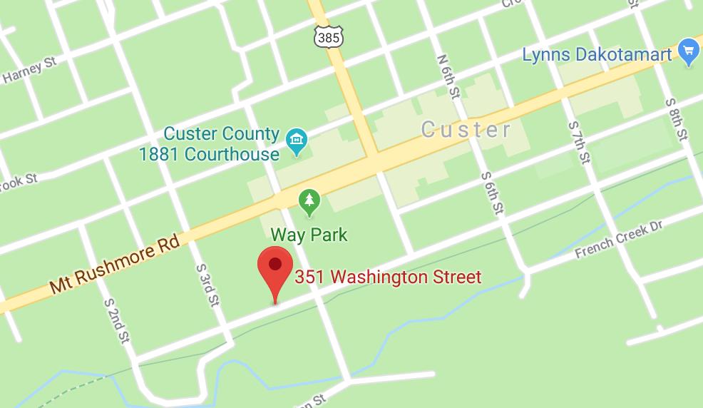The Custer Beacon - 351 Washington st. Custer, SD.