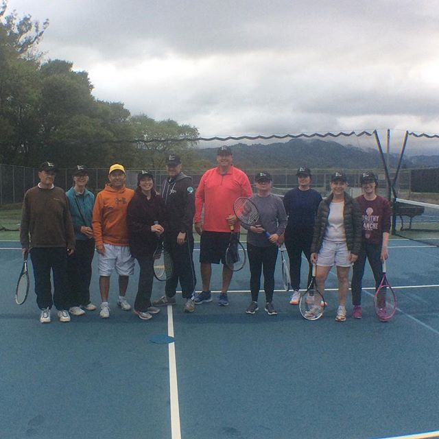 Here's our fresh class of adult tennis players enrolled in the spring program.