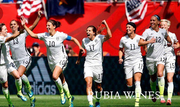 Congratulations and well done @teamusa_womenssoccer_ from your friends and fans @rubiawines - cheers!  4 Time Champs!  #teamusawomenssoccer #worldcupchamps #equality #cheers #toast #confidence #team #wine #napavalleywines #usasoccer #enjoy #believe