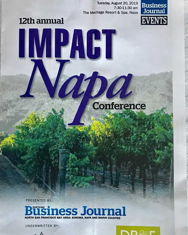 A big thank you to @northbaybusinessjournal for today's conference covering Napa Today and Tomorrow, Wildfire Preparedness and the State of the Local Wine Industry.  An agenda for success from the presenters - Calistoga Mayor Chris Canning, Napa County Supervisor Ryan Gregory, Napa Mayor Jill Techel, NVV Linda Reiff, Counsel Richard Mendelson, Jon Moramarco - BW166 and Carol Reber from Duckhorn.  #rubiawines #rubiawinecellars #napavalleywines #napavalleyvintners #duckhornwine #cityofcalistoga #mayorofnapa #napavalley #wineeducation