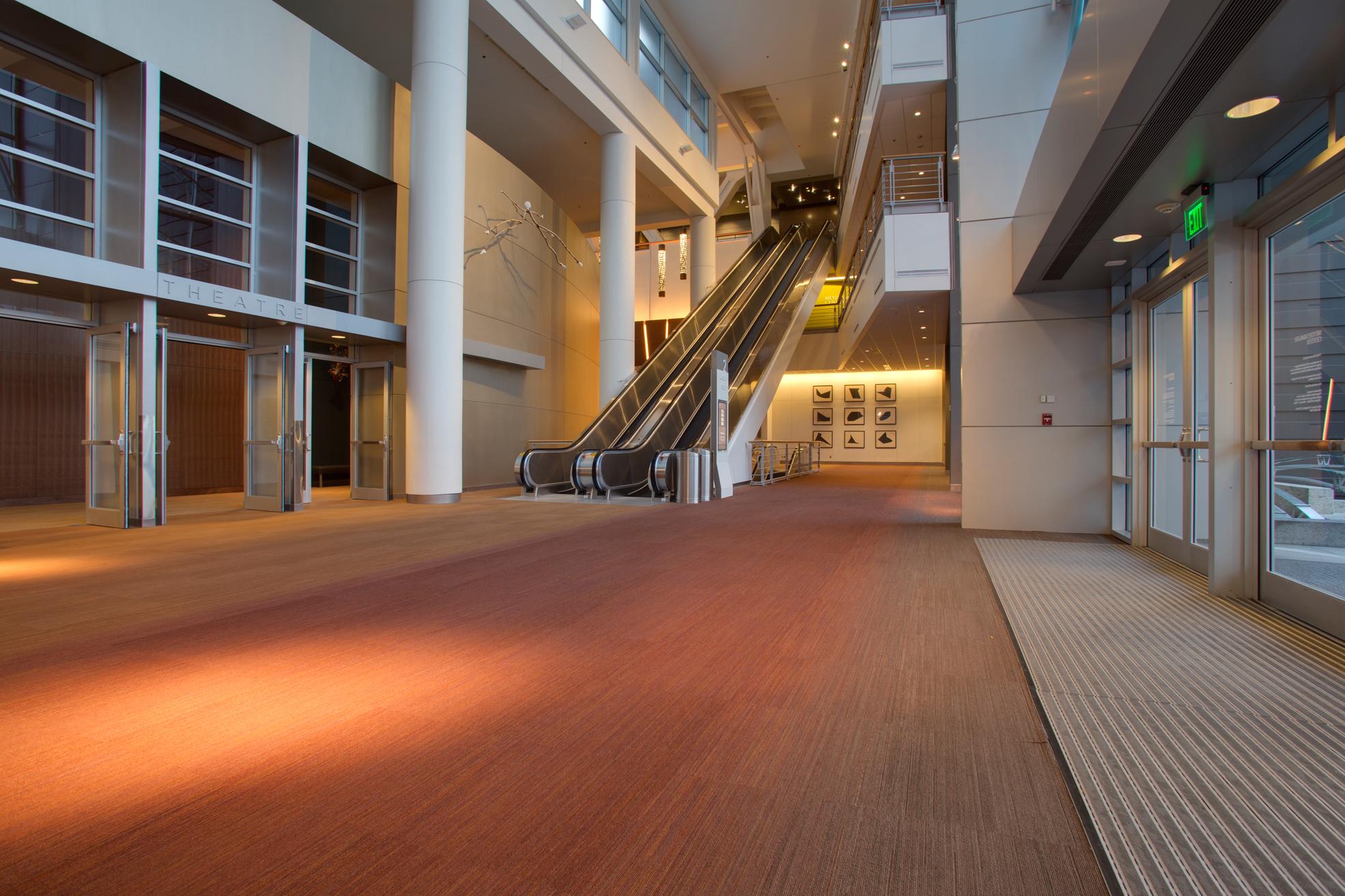 Meydenbauer Center - Level 2 Lobby  Escalators .jpg