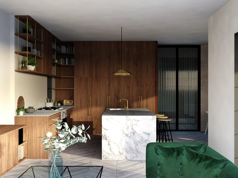 atelier aitken interior design retro velvet