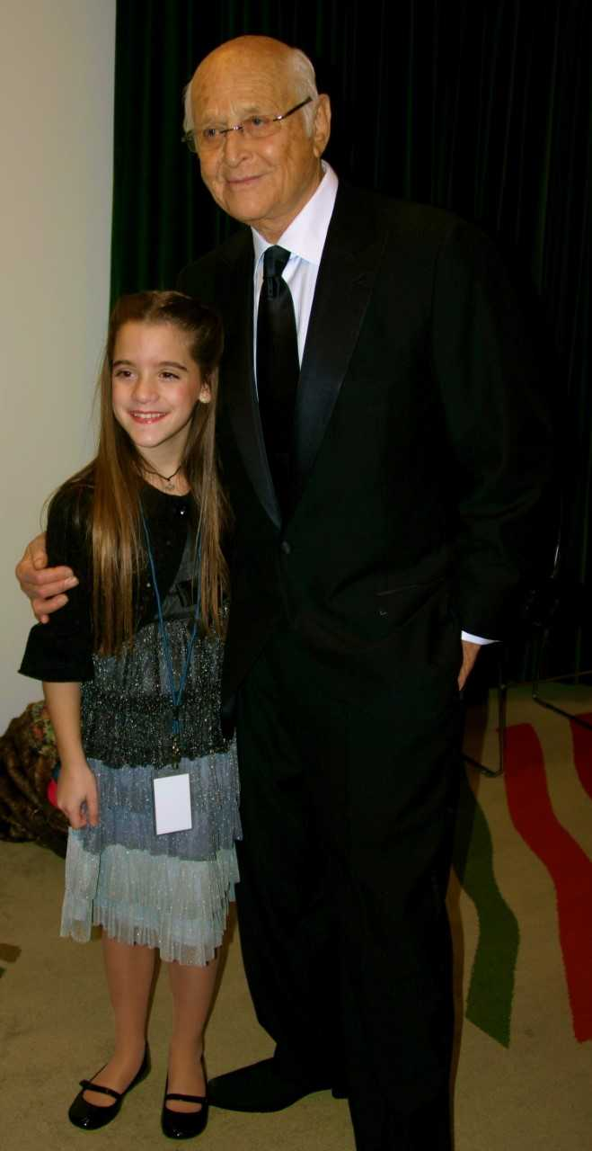 With Normal Lear before the Marian Anderson Awards (2008)