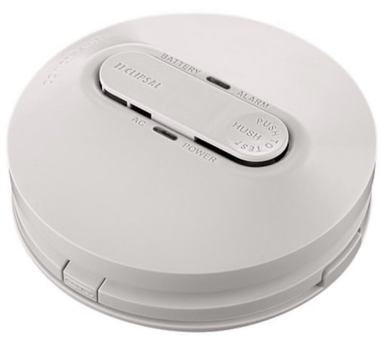 Pictured is a photoelectric smoke alarm by QFES legislation, you need to have these in your home.