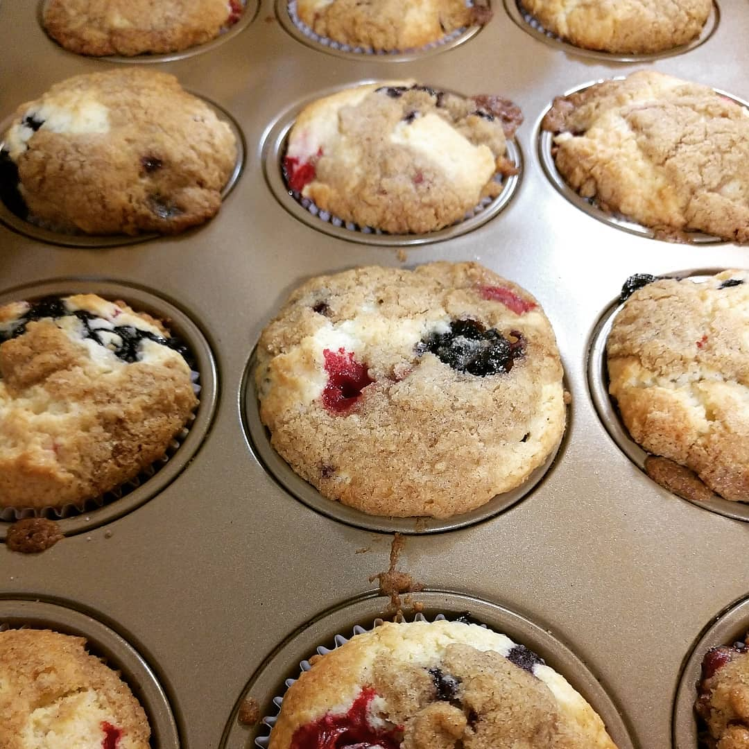 Blueberry / cranberry muffins