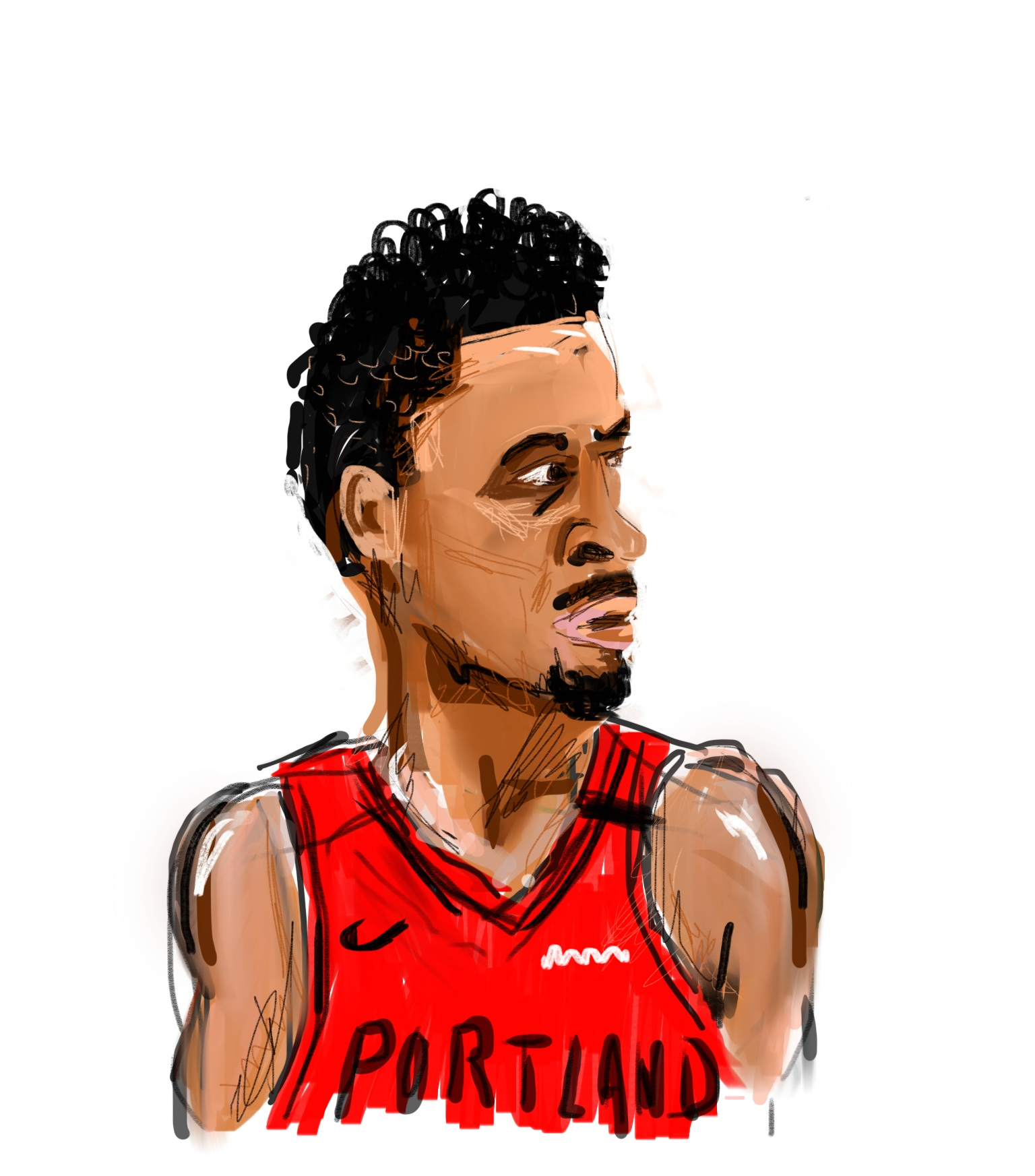 CJ McCollum by Oyl Miller