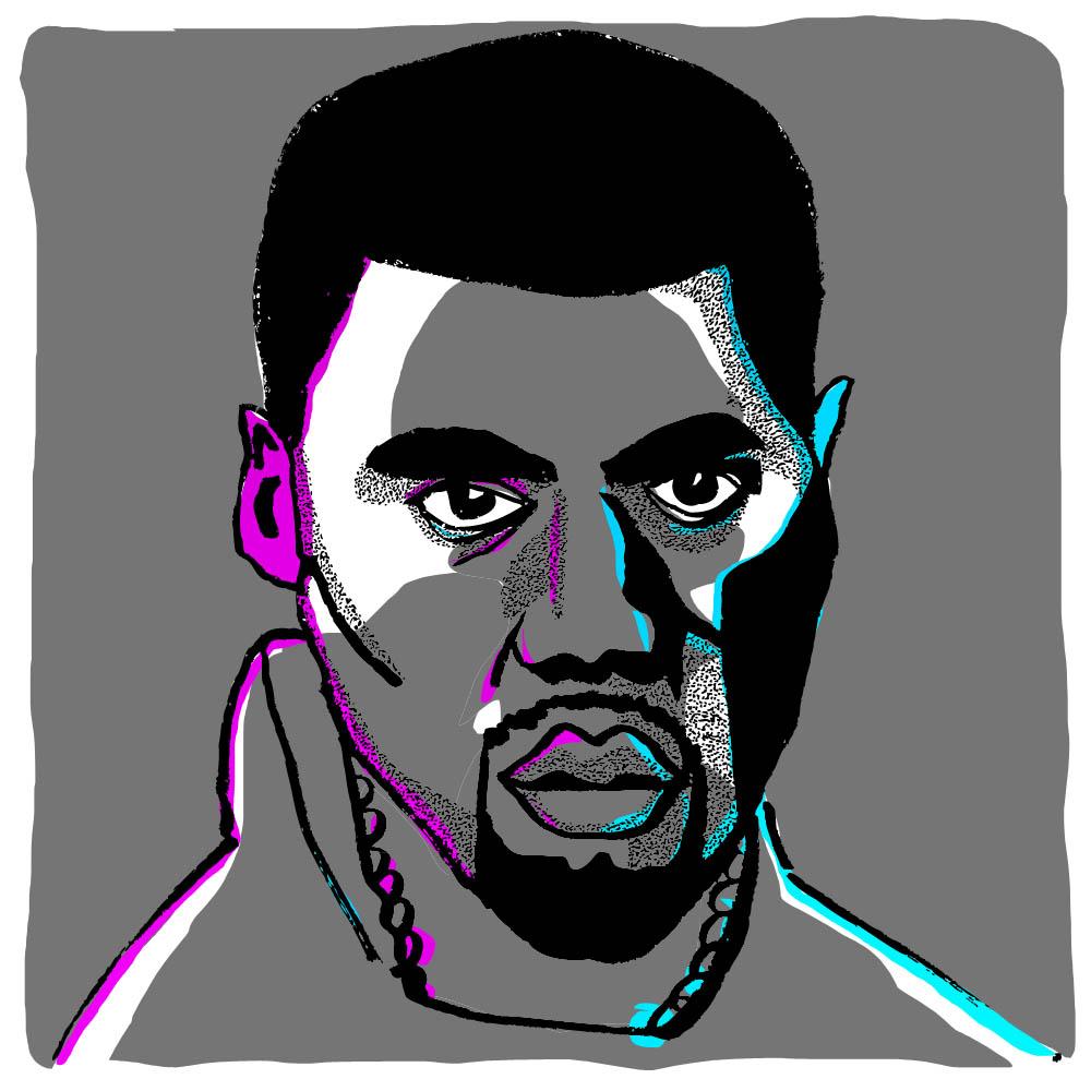 Kanye West by  @oyldraws