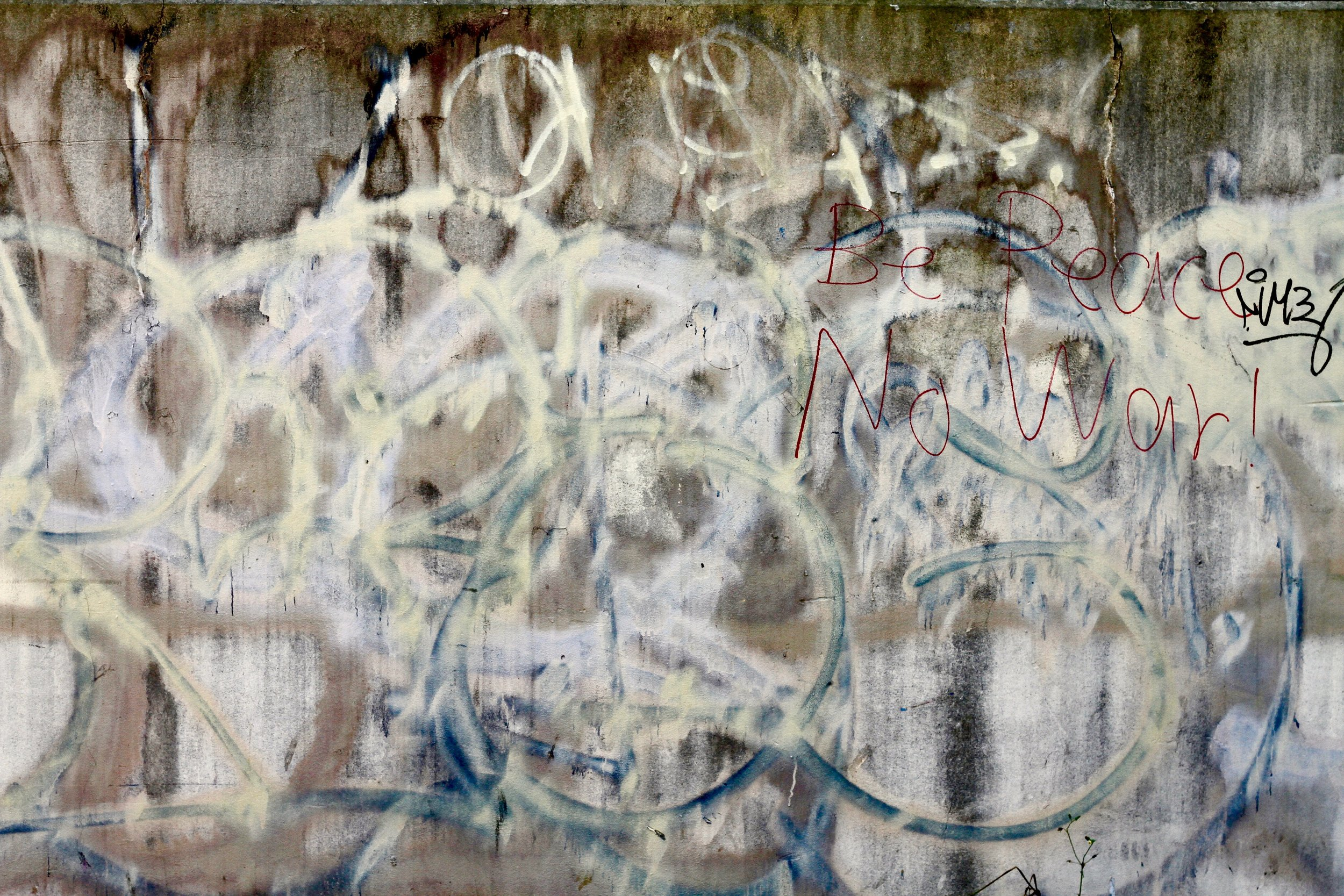 Paint, air, time and ink on wall.  Anonymous. Tokyo 2019